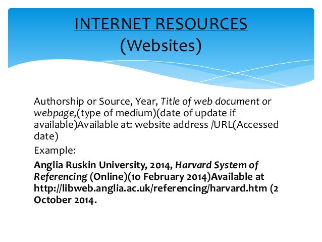 Apa referencing websites essay