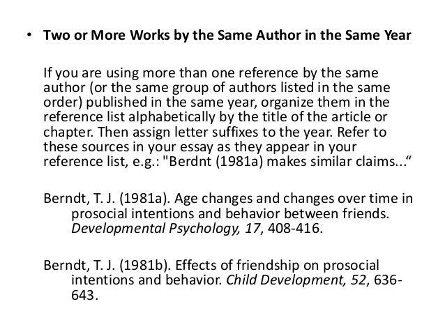 Apa citation more than one author