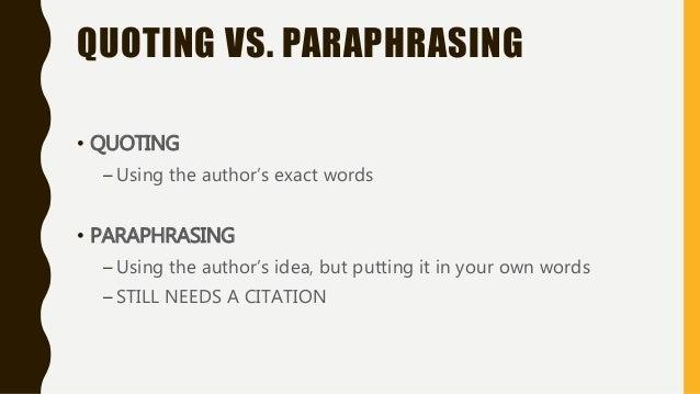 Words for citation