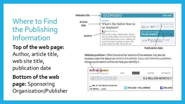 How to find website from citation?