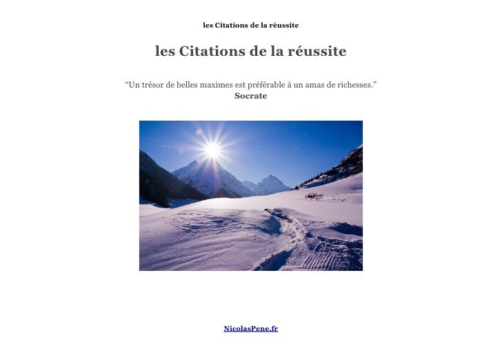 Citations reussite from Nicolas Pene