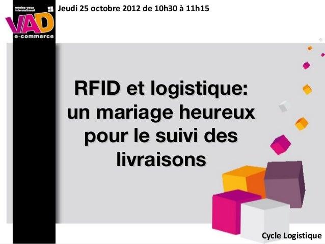 RFID et logistique:RFID et logistique:un mariage heureuxun mariage heureuxpour le suivi despour le suivi deslivraisonslivr...