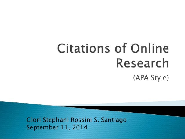 citations in a research paper apa style