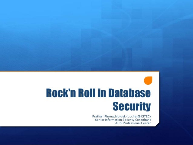 Rock'n Roll in Database S