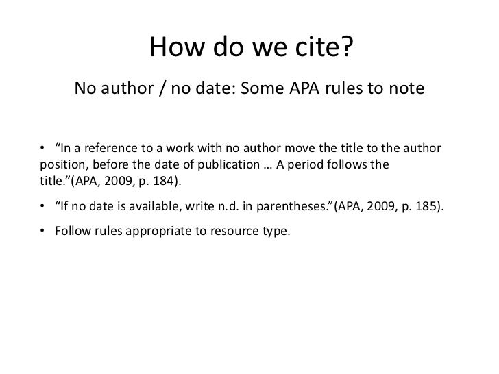 how to do a works cited page in apa format