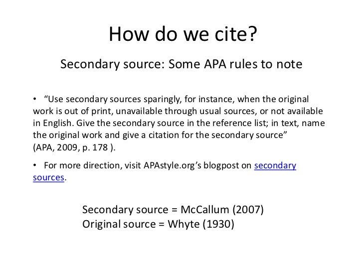 How do you cite a....?