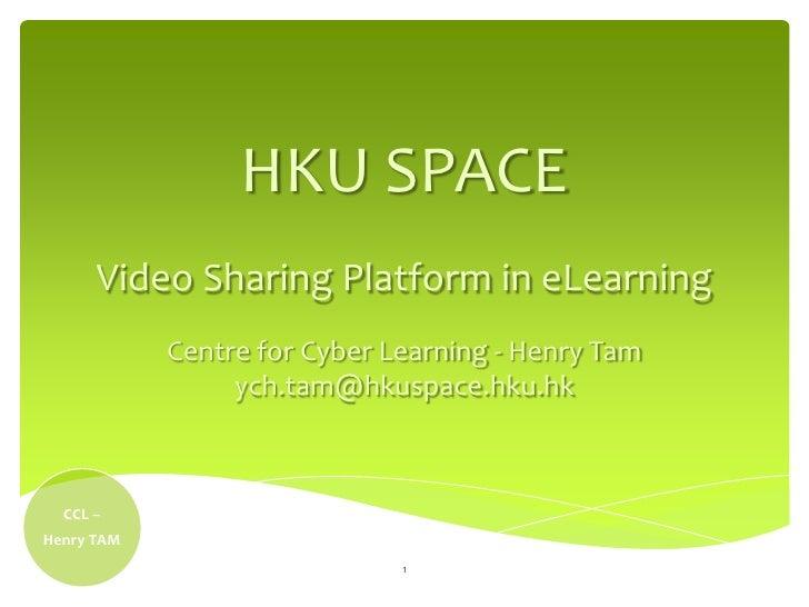 Video Sharing Platform in eLearning