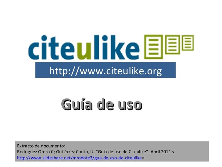 CiteUlikeGuia