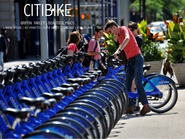 CitiBike pitch from Griffin Farley's Beautiful Minds Planning Competition