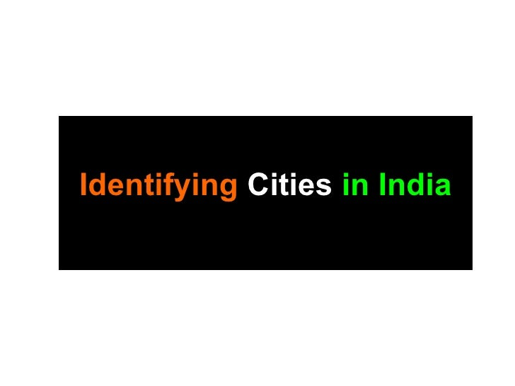 Identifying Cities in India