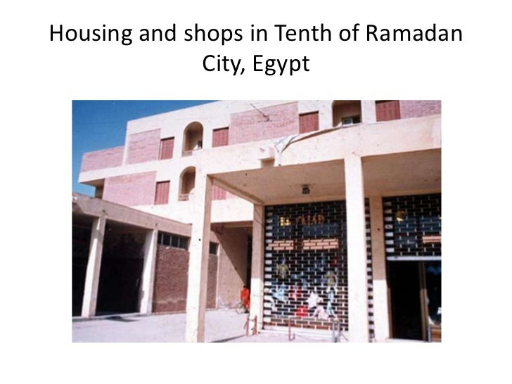Housing and shops in Tenth of Ramadan              City, Egypt