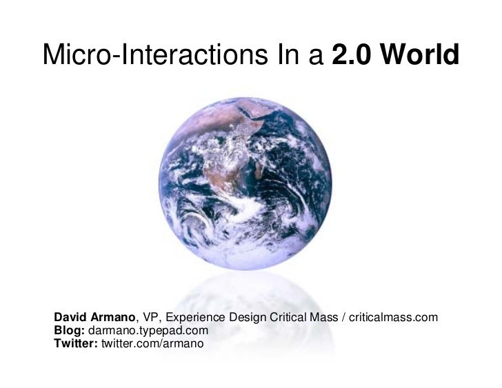 Micro-Interactions in a 2.0 World (v2)