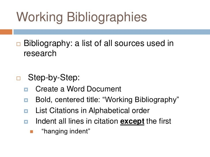 What is an bibliography