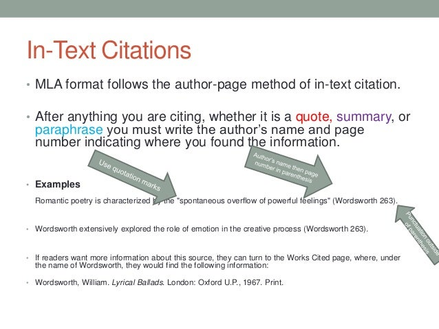 Citing sources properly in MLA format?