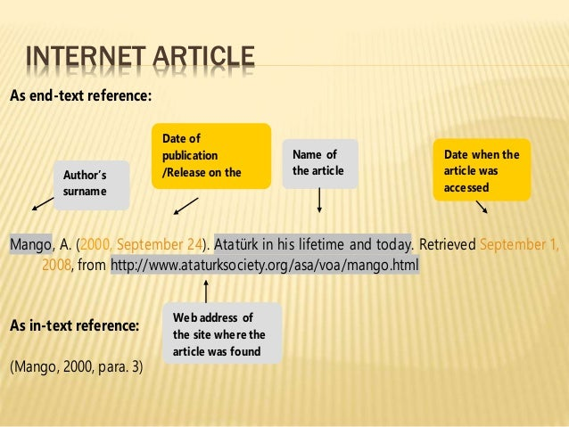 Reference internet article