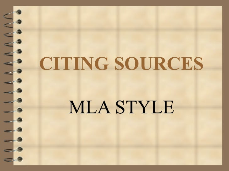 Citing sources (1)