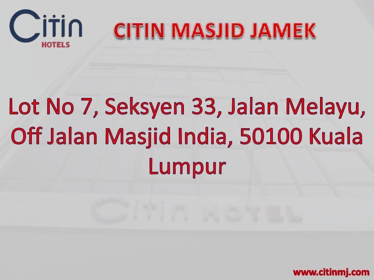 Citin Hotel Masjid Jamek, Kuala Lumpur