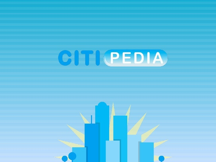 Citipedia presentation