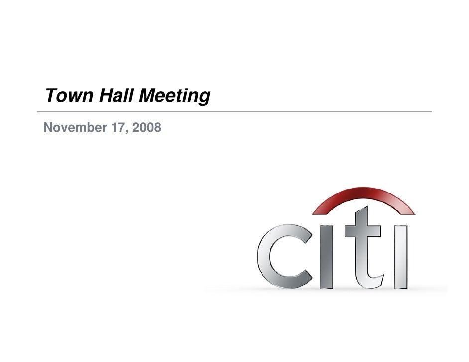 Town Hall Meeting November 17, 2008