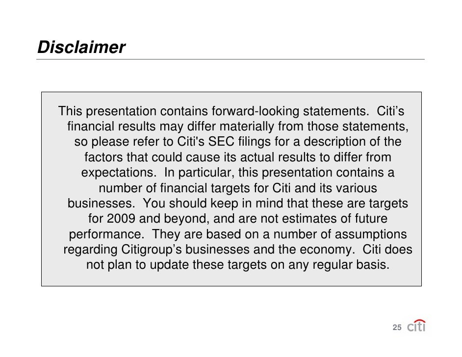 Forward Looking Statements This presentation and the