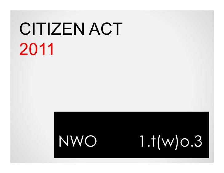 Citizen act 2011_nwo