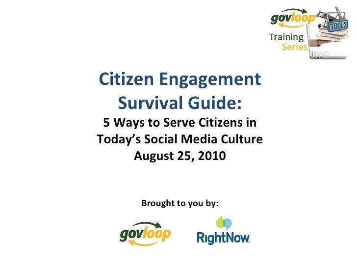 Government Citizen Engagement Survival Guide