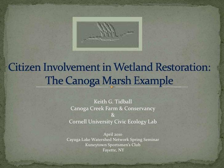 Citizen involvement in wetland restoration