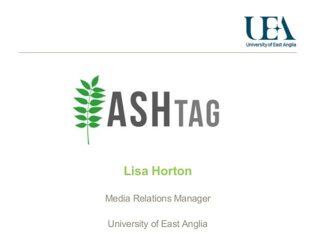 Lisa HortonMedia Relations ManagerUniversity of East Anglia