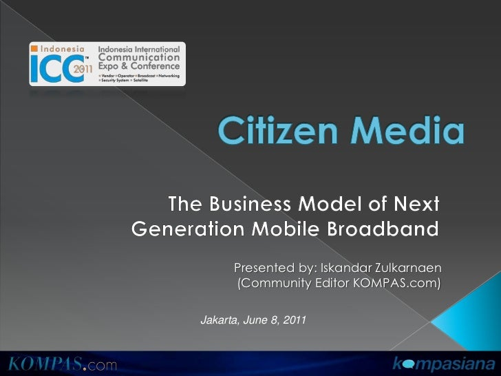 Kompasiana, Citizen Media Business Model in Indonesia