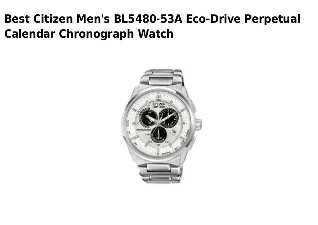 Citizen mens bl5480 53 a eco-drive perpetual calendar
