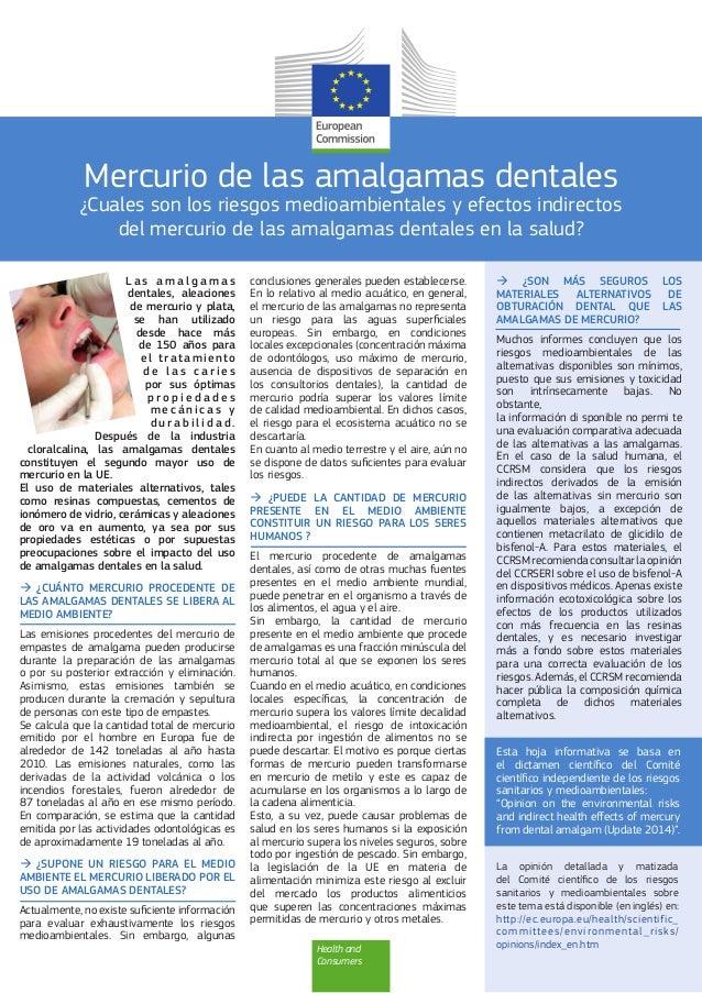 Mercurio de las amalgamas dentales