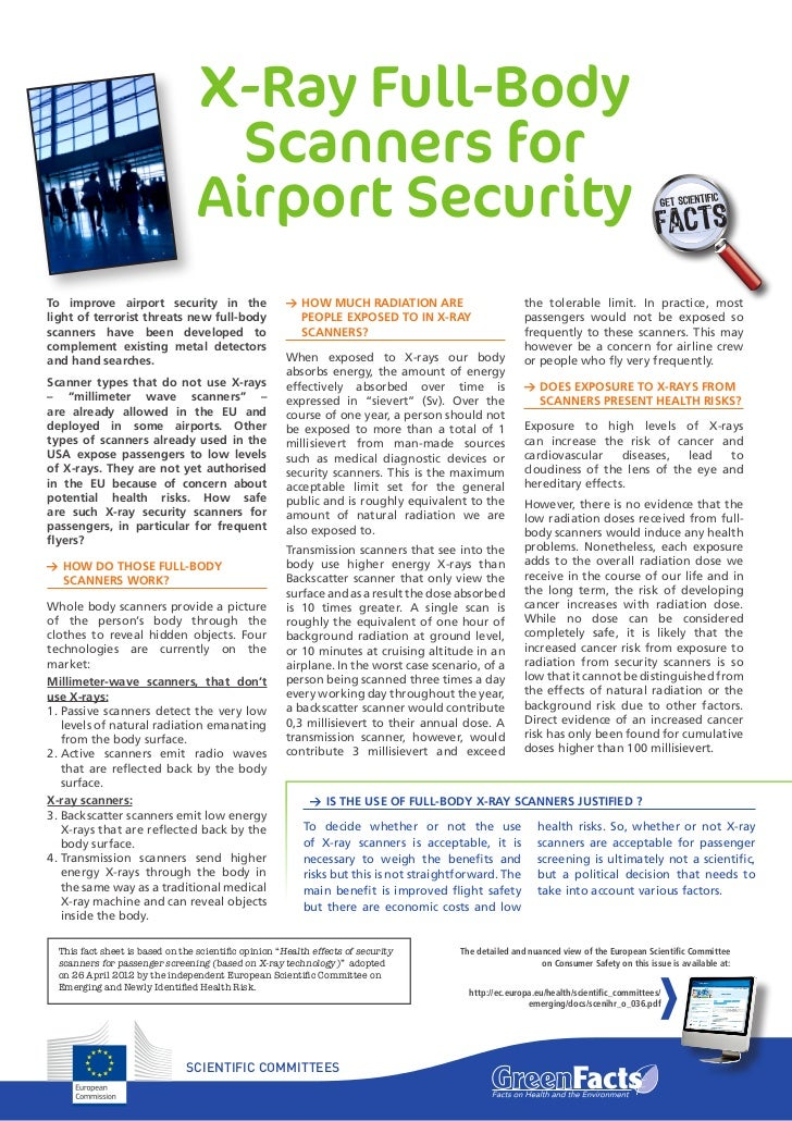 how to read airport x ray