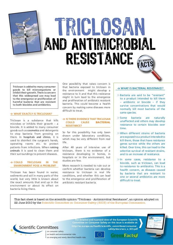 Triclosan and Antibiotics resistance