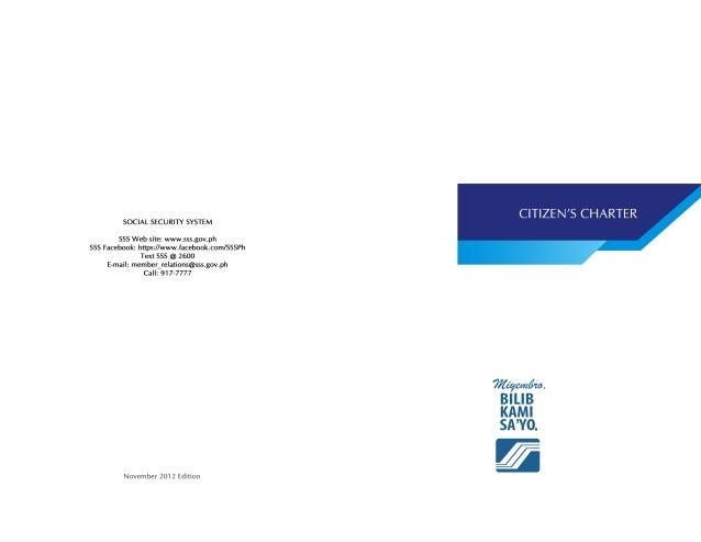SSS Citizens Charter