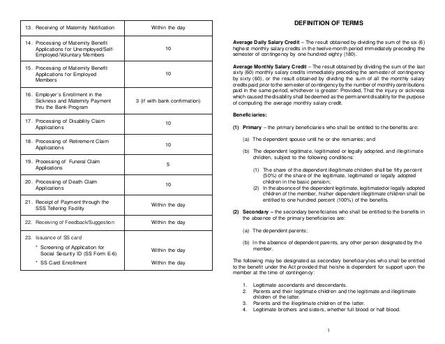 Sss Forms For Maternity