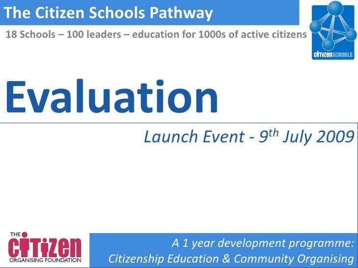 Citizen Schools Pathway Launch: Evaluation