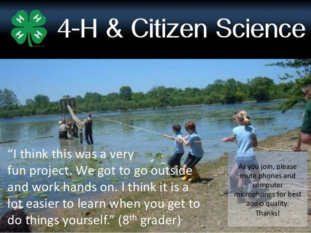 4-H and Citizen Science Basics