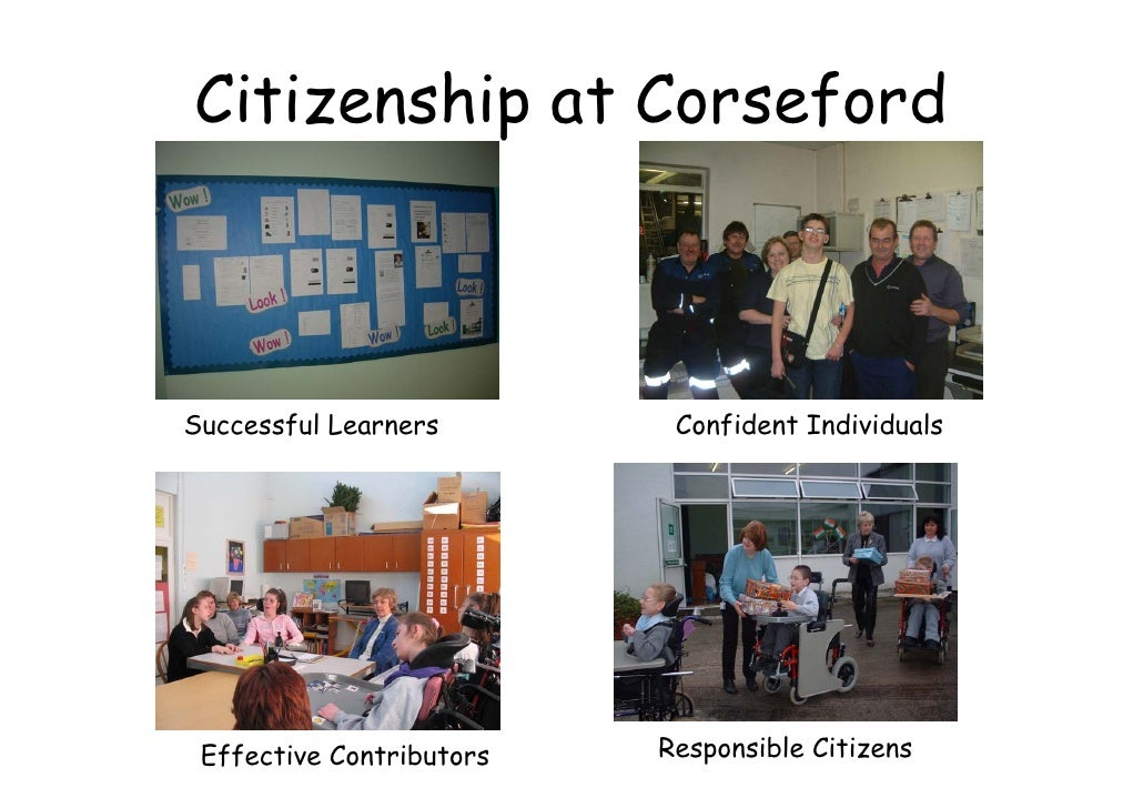 Citizenship at Corseford    Successful Learners        Confident Individuals      Effective Contributors   Responsible Cit...