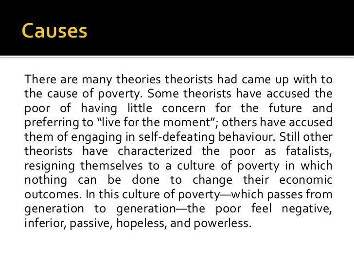 an essay about causes and effects of poverty