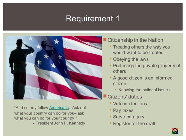 Citizenship in the nation-Merit Badge Course