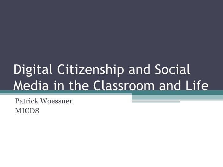 Digital Citizenship and Social Media