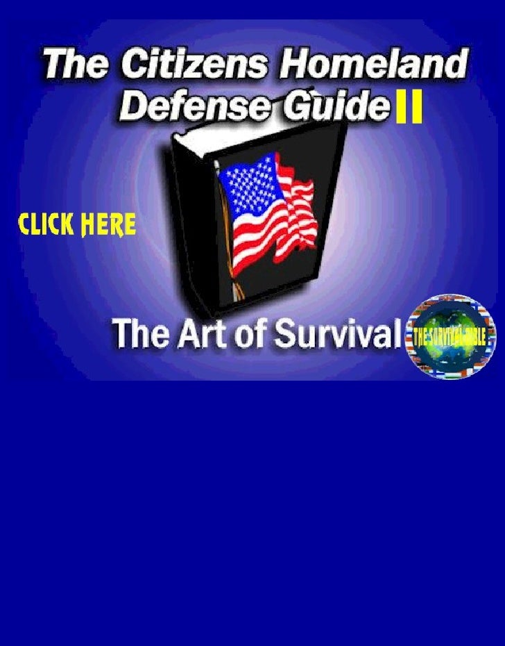 Citizens Homeland Defense Guide Ii   The Art Of Survival
