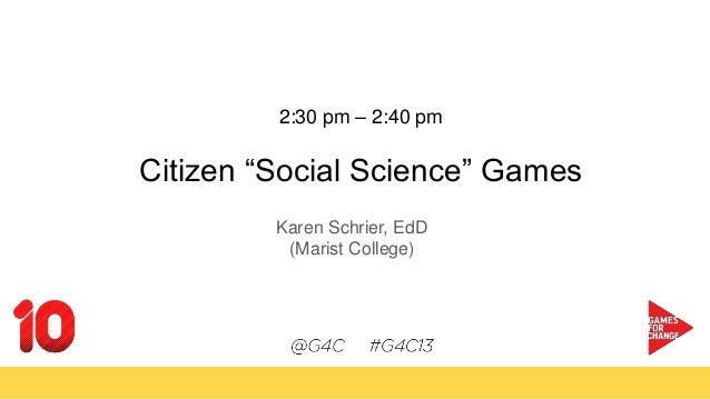 Citizen  social science  games - Games for Change