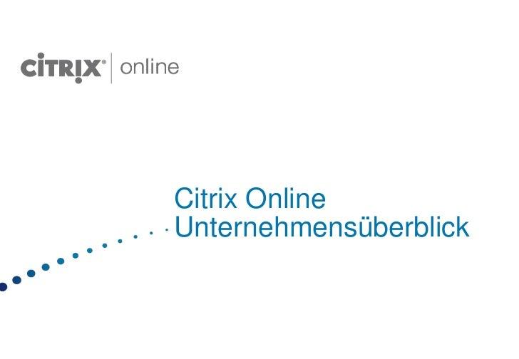 Citrix OnlineUnternehmensüberblick