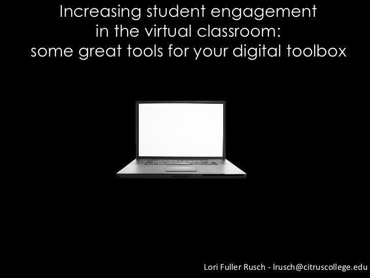 Increasing student engagement: DE tool box