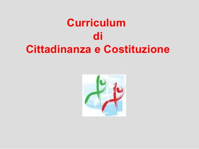 Curriculum di Cittadinanza e Costituzione