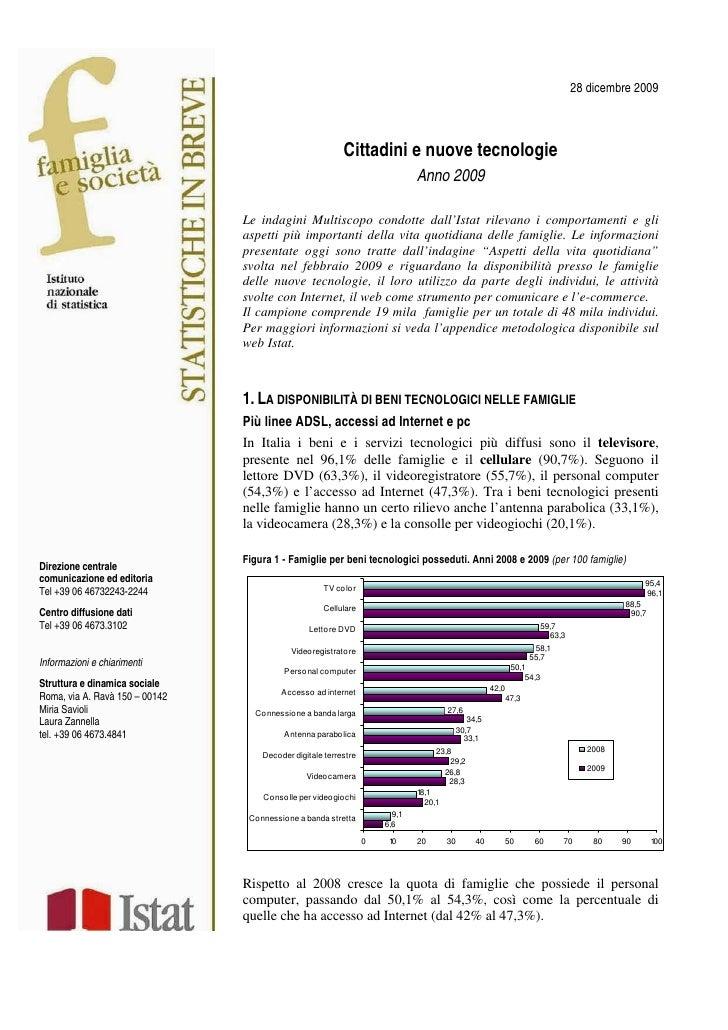 28 dicembre 2009                                                                Cittadini e nuove tecnologie              ...