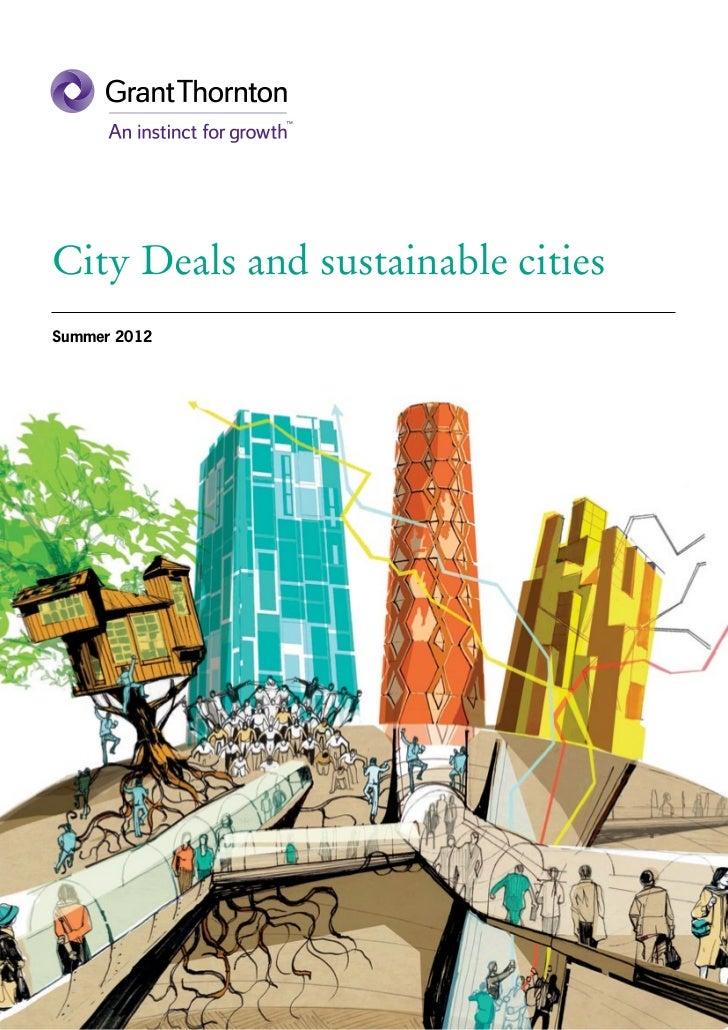 UK City deals & sustainable cities report