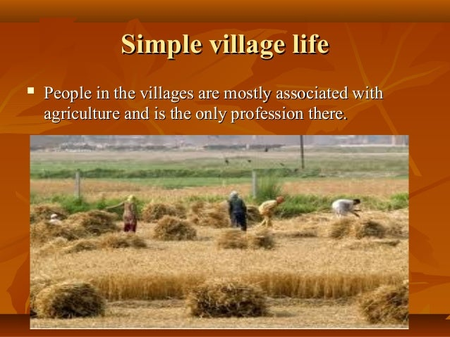 essay on difference between city and village life