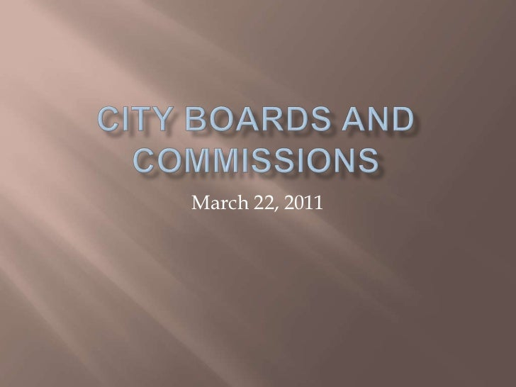 City Council March 22 - City boards and commissions